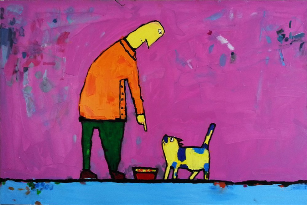 MAN AND CAT #2