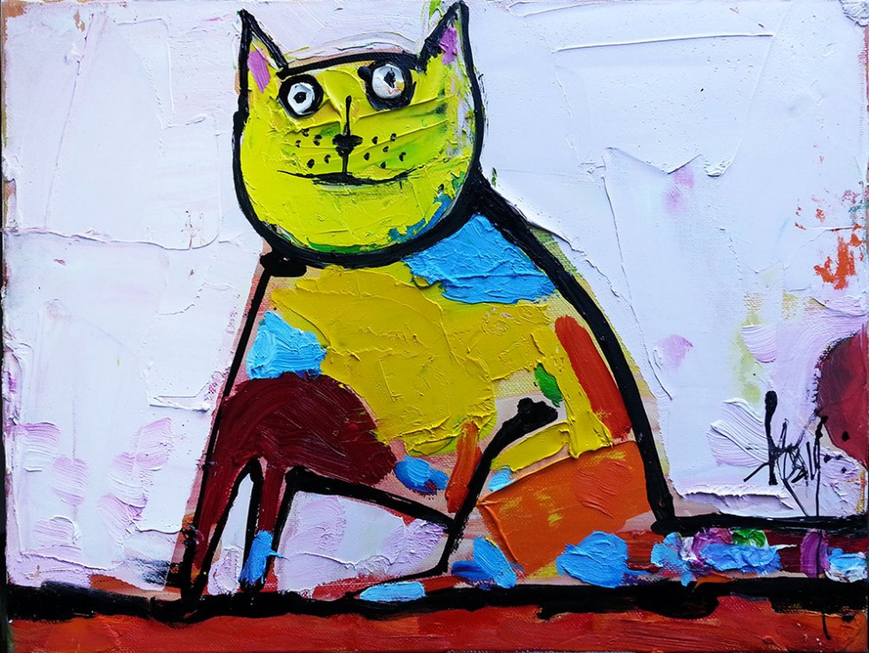Seated Cat