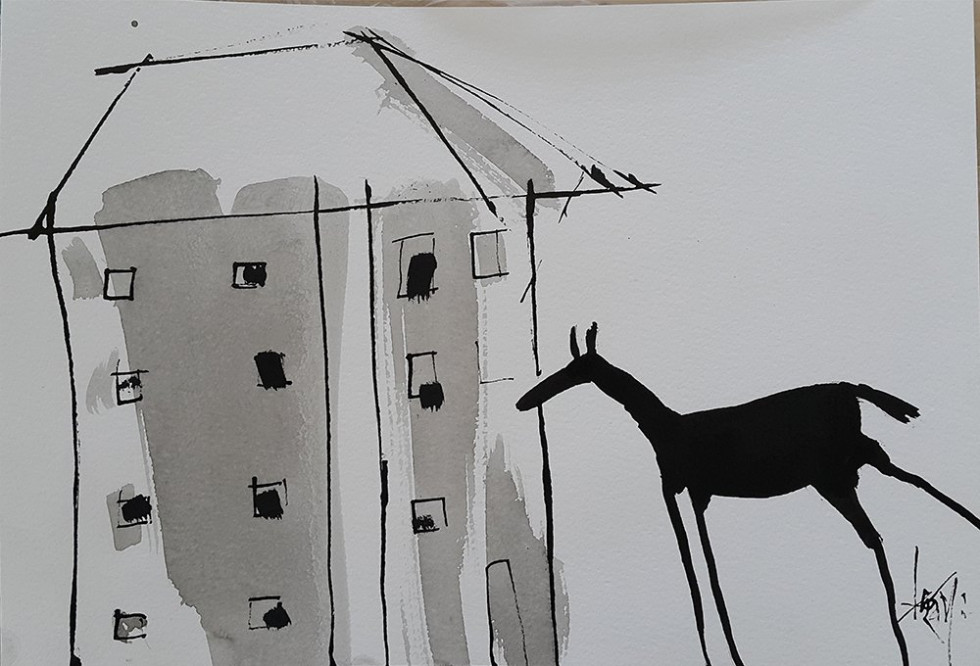 HOUSE AND HORSE